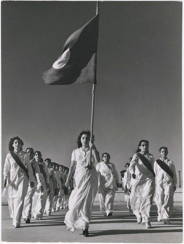 1947 - Pakistani members of Sind Muslim Women's National Guard during marching practice