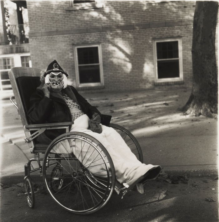 Masked Woman in a Wheelchair, Pennsylvania, 1970