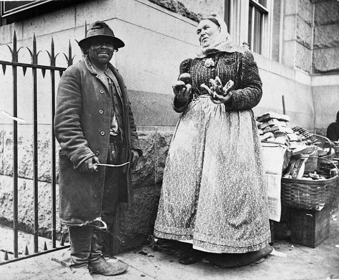 Queer Emigrant & Pretzel Vendor 1896