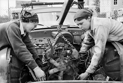 JEB (Joan E. Biren), American (b. 1944) Lori and Valerie at Wrenchwomen, an all-women auto repair shop in Washington, D.C., 1978